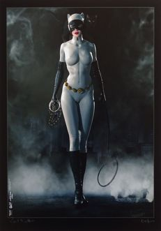 Kunstdruk; Paul Sutton - Catwoman - 2016