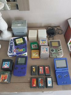 lot of gameboy classic , colour and advance with lots of games