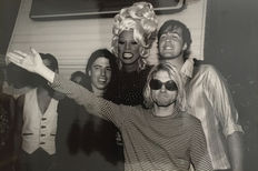 Kevin Mazur - Nirvana with RuPaul - 1993