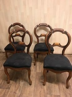 A set of four mahogany William III chairs - the Netherlands -ca. 1850
