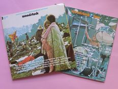 Woodstock One + Woodstock Two total 5 lp's, complete (Atlantic Records NL/Germany)