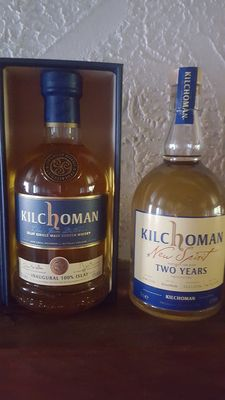 2 bottles - Kilchoman new spirit & Kilchoman inaugural 100% islay 1e edition