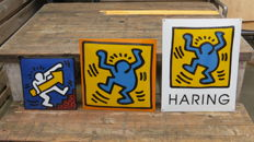 Nice set of enamel signs by Keith Haring
