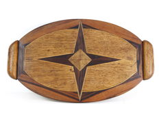 Rosewood Inlaid Art Deco Tray