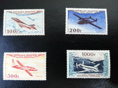 France, 1954, airmail, Yvert numbers 30-33