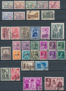 Belgium 1934/1954 – Collection between OBP 394/400 and 955/960