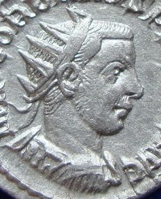 Roman Empire – Silver Antoninianus of Gordian III, the child emperor (238-244 A.D.) struck in Antioch, reverse Oriens! (P463)