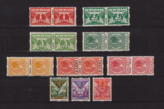 The Netherlands 1925 - Syncopated perforation selection - NVPH R1/R11 and R71/R73