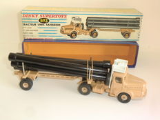 Dinky Supertoys-France - Scale 1/48 - Tractor Saharian Unic and trailer transport of tubes No.893