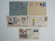 France 1937/1994 - Collection approx. 485 FDC's in archive box.
