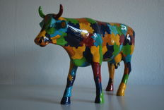 S. Butler & D. Woods voor Cowparade - Puzzling Cow - Large - Retired