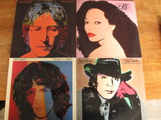 "Nice Lot of 5 albums with great Andy Warhol designed covers;  ""Faces""."