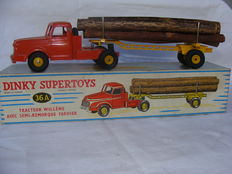 Dinky Supertoys-France - Scale 1/48 - Tracteur Willème avec Semi-Remorque Fardier No.36a