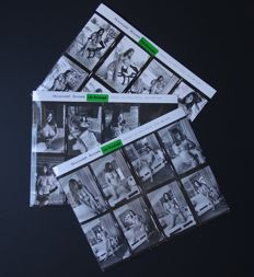 Contact sheet; Lot with 3 Contact sheets of Lilo Korenjak: Model Mendy Todd - 1960s