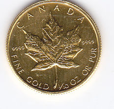 "Canada – 5 Dollars 1987 ""Maple Leaf"" – 1/10 oz of gold"
