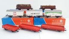 Roco H0 - Eight goods wagons of the DB