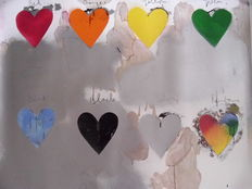Jim Dine (after) - 8 hearts