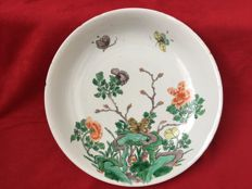 A large famille verte dish - China - Kangxi period (1662-1722)