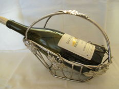 Beautiful Silver plated Wine bottle Holder.