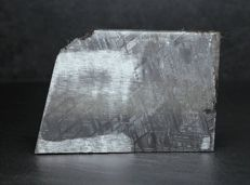 Muonionalusta  Meteorite- Oktaedrite IVA - From the Arctic Circle - Etched Meteorite end piece with crust - 7.70 x 5.25 cm - 422.30 g