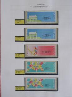 Europe 1978/2001 – Collection of machine strips (ATM) in two ringbinders + catalogue