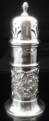 Silver Sugar Castor, Birmingham 1900, William Hutton & Sons Ltd