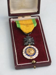 French medal military 1870 in its original box-WWI