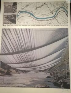 Christo and Jeanne-Claude - Over the River - Project for Arkansas River, Colorado