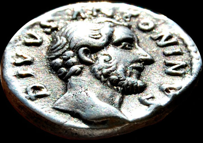 Roman Empire - Antoninus Pius (138 - 161). (Died 161) AR Denarius. Rome mint. Column of Antoninus Pius