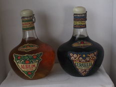 Distellerie dell'Aurum - 2 Bottles from the 1950s - Triple Sec & Cherry Brandy