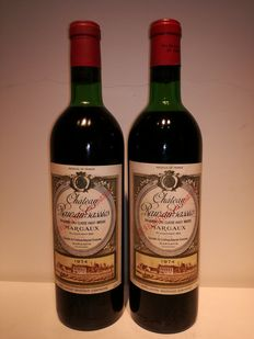 1974 Chateau Rauzan Gassies, Margaux, 2eme Grand Cru Classe - 2 bottles