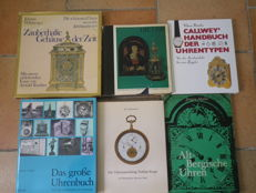 Literature: lot of 6 German clock books 1967-1994