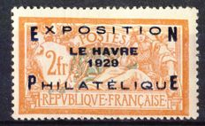 France 1929 - Le Havro Expo - Yvert no. 257A, signed JF Brun and Calves and digital certificate.