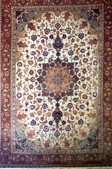 Handknotted Persian rug - Extraordinary Imperial TABRIZ , 353 x 245 cm - Iran, city of Tabriz - ca. 1970
