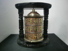 Bronze Tibetan prayer wheel - Nepal - Early 21st century