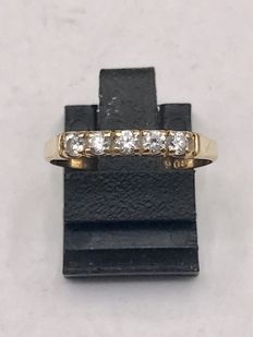 14 kt (585/1000) gold women's eternity ring with zirconia – Ring size is 18