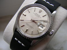 Rolex Oyster Perpetual Datejust, white gold bezel /steel, ref. 1603 – Men's – Rare– circa1970s.