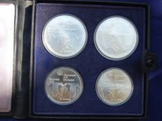 Canada - 5 and 10 Dollars 1976 'XXI Olympic Games' (set of 4 coins) - Silver