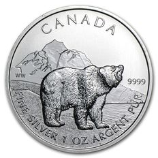 Canada - 1 x 5 CAD - Grizzly 2011 - Wildlife Series 2011 - 999 Silver Coin