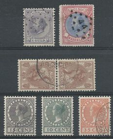 The Netherlands 1872/1924 - king William III, tête-bêche and exhibition - NVPH 28, 29, 61b, 136/138
