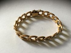 Ladies' chain bracelet in gold plate