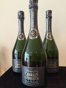 "Charles Heidsieck ""Brut Reserve"" Champagne - lot of 3 bottles (75cl)"