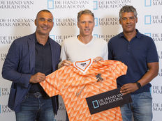 Van Basten, Rijkaard and Gullit signed European Championship 88 shirt in deluxe packaging