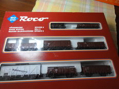 Roco H0 - 04057A - set freight carriages Era II: 8 freight carriages of the DR