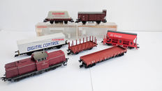 Fleischmann H0 - 4230/Etc. - Complete set with a Diesel locomotive and six wagons incl. a  side-unloader of the DB Cargo