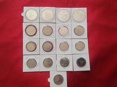 Portugal – 17 Portuguese coins – €10, €8, €5 and €2.50 (including silver)