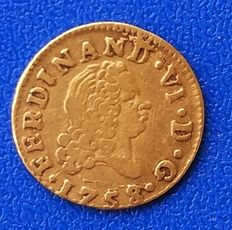 Spain – Fernando VI – 1/2 escudo – 1758 – Madrid