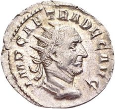 Roman Empire - Trajanus Decius 249-251, AR Antoninianus Mediolanum / Genius of the Illyrian army.