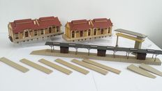 Vollmer H0 - Goods sheds and platform and signal shed