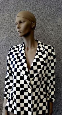 Moschino Cheap and Chic – Blazer Black & White Moschino – Primavera Estate 1990 Collezione No 4